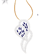 pendant with diamonds in pave settings